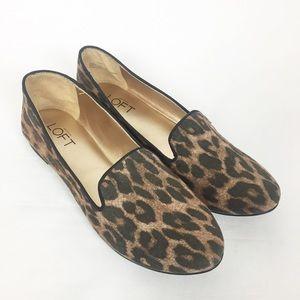 Ann Taylor Loft Cheetah Print Loafers Flats